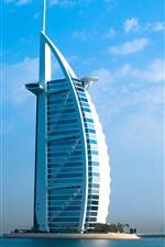 Dubai, skyscraper, river, blue sky