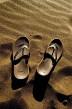 Preview iPhone wallpaper Flip flops, sand, beach