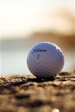 Preview iPhone wallpaper Golf ball, ground, hazy