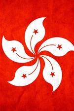 iPhone壁紙のプレビュー 香港の旗、バウヒニアの花