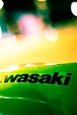 Vorschau des iPhone Hintergrundbilder Kawasaki, Logo, Nacht, Lichtkreise