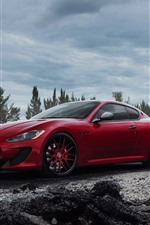 Preview iPhone wallpaper Maserati red and white cars