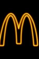 Vorschau des iPhone Hintergrundbilder Mcdonalds Logo