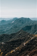 Preview iPhone wallpaper Mountains, road, valley
