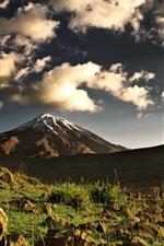 Vorschau des iPhone Hintergrundbilder Berge, Felsen, Schnee, Himmel, Wolken