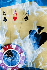 Preview iPhone wallpaper Poker, smoke, creative picture