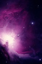 Preview iPhone wallpaper Purple galaxy, stars, space