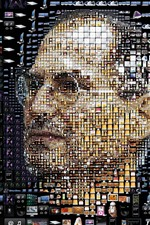 Preview iPhone wallpaper Steve Jobs, face, creative picture
