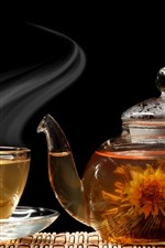 Tea, kettle, glass, steam