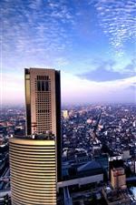 iPhone обои Токио, город, небоскребы, вид сверху, Япония