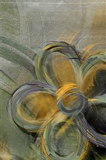 Preview iPhone wallpaper Abstract flowers, art painting