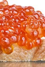 Caviar, bread, food