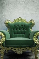Preview iPhone wallpaper Green sofa, still life