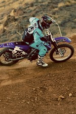 Preview iPhone wallpaper Motorcycle, sport, dirt