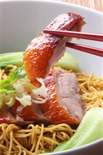 Preview iPhone wallpaper One bowl of noodle, meat, food