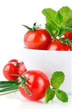 Preview iPhone wallpaper One bowl of tomato, white background