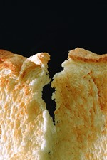 Preview iPhone wallpaper One piece bread, black background