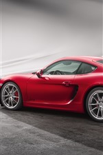 Preview iPhone wallpaper Porsche Cayman GTS red supercar