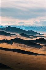 Preview iPhone wallpaper Prairie, river, mountains