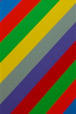 Preview iPhone wallpaper Rainbow colors stripes, abstract