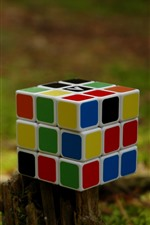 Preview iPhone wallpaper Rubik's cube, colorful, stump