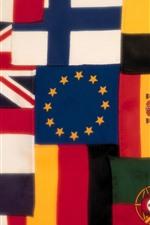 iPhone壁紙のプレビュー いくつかの旗、カラフル