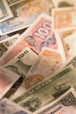 Preview iPhone wallpaper Some money, currency, hazy