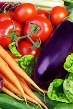 iPhone壁紙のプレビュー 野菜、にんじん、トマト、きゅうり、キャベツ、コショウ