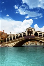 Preview iPhone wallpaper Venice, river, bridge, Italy