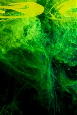 Preview iPhone wallpaper Abstract, green, water, smoke