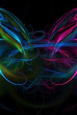 Preview iPhone wallpaper Abstract light lines, colorful, smoke