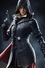 iPhone обои Assassin's Creed, девочка, классическая игра