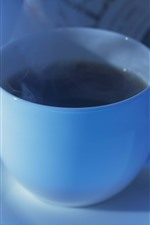 Preview iPhone wallpaper Blue cup, coffee