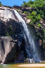 Brasil, cachoeira, penhasco, rochas
