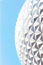 iPhone壁紙のプレビュー 建物の表面、青い空、まぶしさ