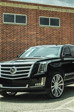 Preview iPhone wallpaper Cadillac black SUV car