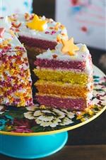 Preview iPhone wallpaper Cake, colorful layers, beautiful