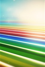 Preview iPhone wallpaper Colorful lines, glare, abstract