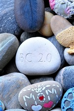 Preview iPhone wallpaper Colorful pebbles, stones