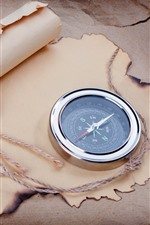 Preview iPhone wallpaper Compass, paper