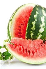 Preview iPhone wallpaper Delicious watermelon, fruit, white background