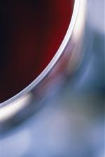 iPhone壁紙のプレビュー ガラスカップの上面図、ワイン、かすんでいる