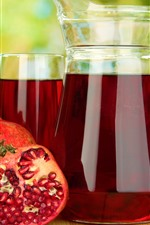Preview iPhone wallpaper Juice, pomegranate, drinks, glass kettle