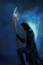 Preview iPhone wallpaper Loki, Avengers, art picture