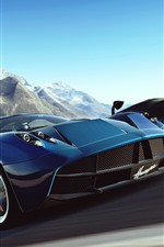 Preview iPhone wallpaper Pagani supercar, high speed