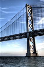 Preview iPhone wallpaper San Francisco, bridge, sea, clouds, USA