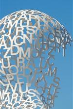 Escultura, letras, criativo