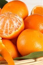 Some oranges, basket, fruit