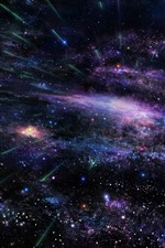 Estrelas, espaço, cometa
