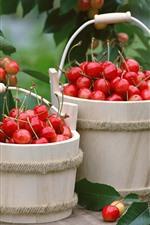 Preview iPhone wallpaper Two bucket of cherries